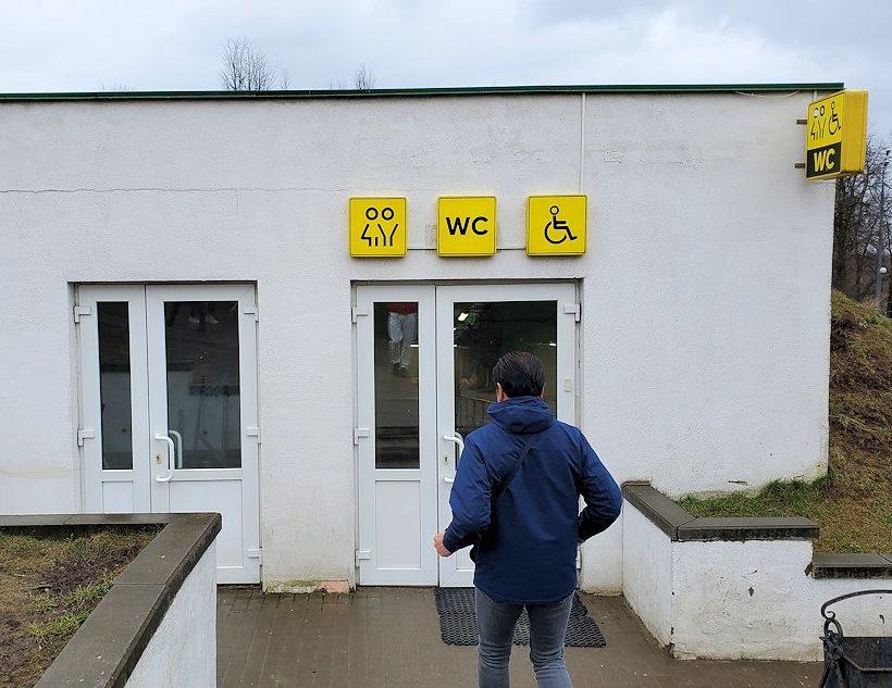 トロイツェ・セルギエフ大修道院群の入口近くにあるトイレ