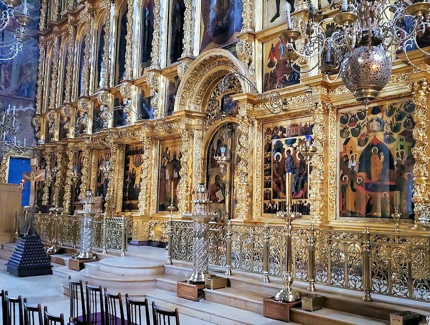 ウスペンスキー大聖堂内の祭壇