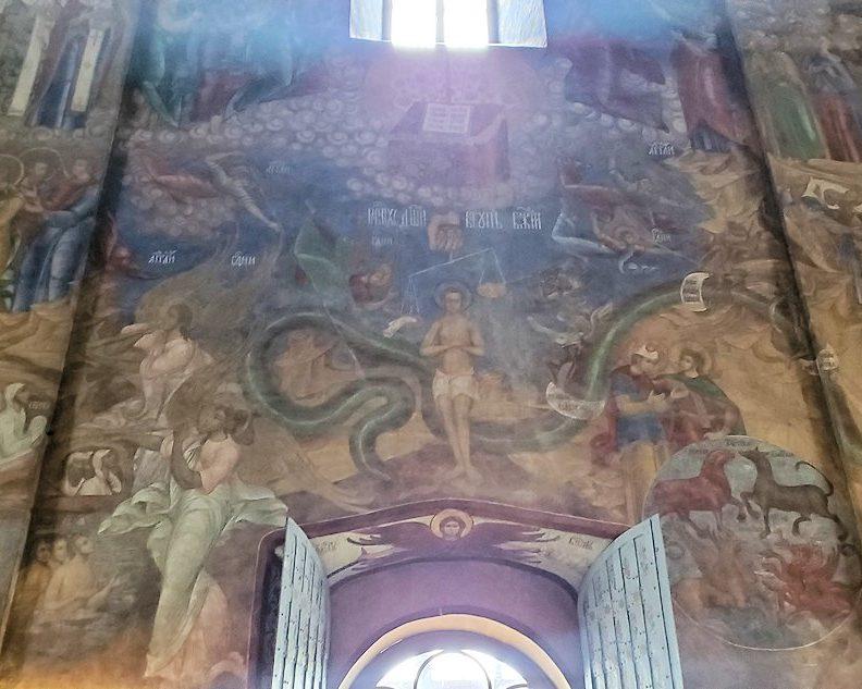 ウスペンスキー大聖堂内の壁に描かれている絵-2
