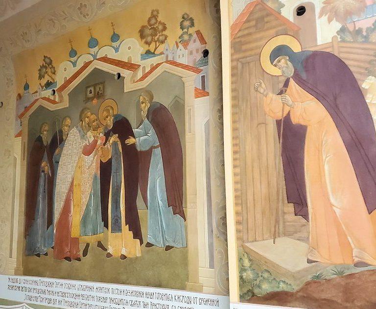 トロイツェ・セルギエフ大修道院にある建物に描かれているロシア正教の絵-2
