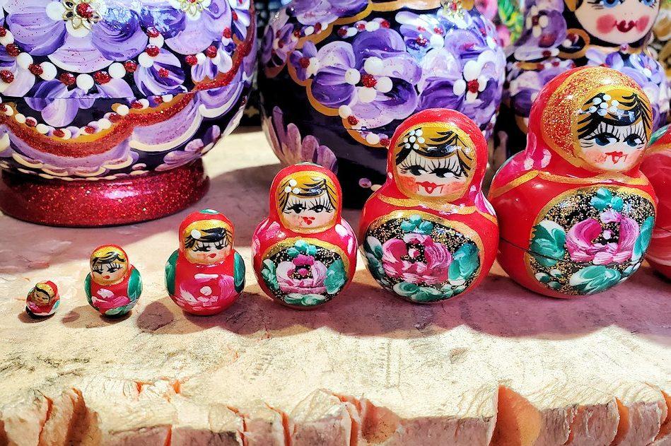 セルギエフ・ポサードで売られている、激安の中国産マトリョーシカ