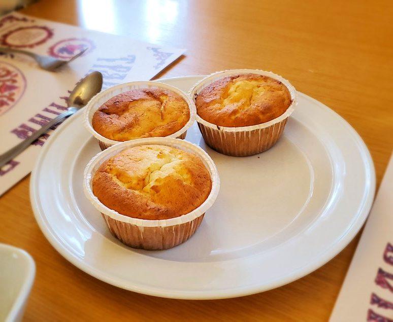 レストラン「トラペスナヤ・パラタ」で出てきたカップケーキ