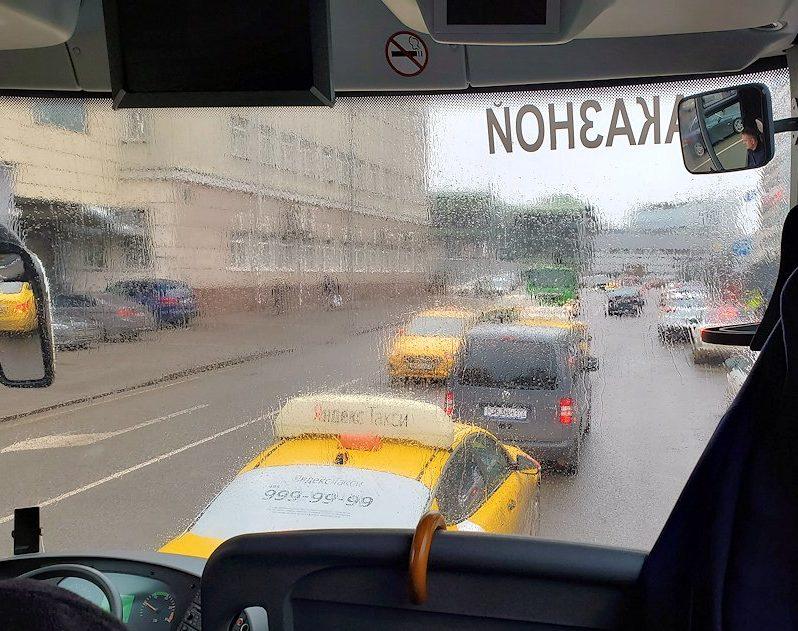 モスクワ市内をバスから眺める
