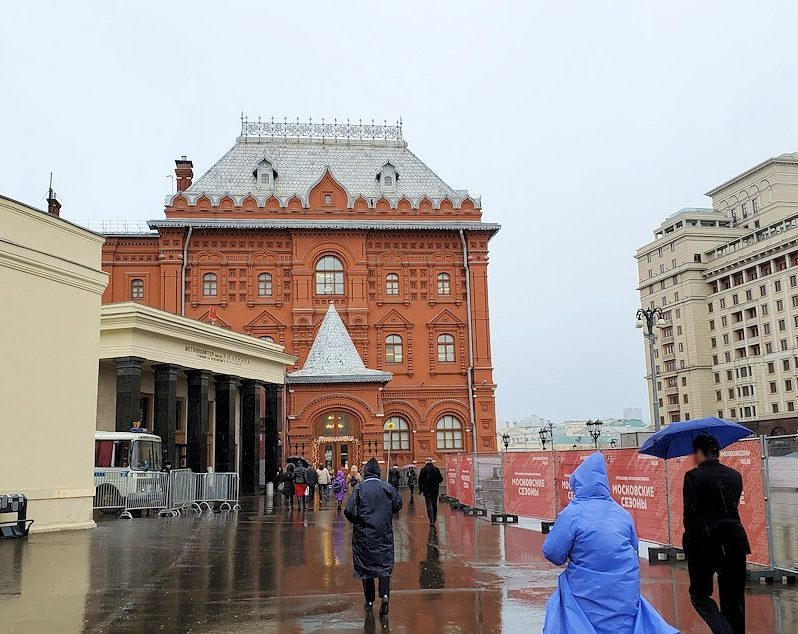 モスクワ市内中心部から赤の広場へ向かう-2