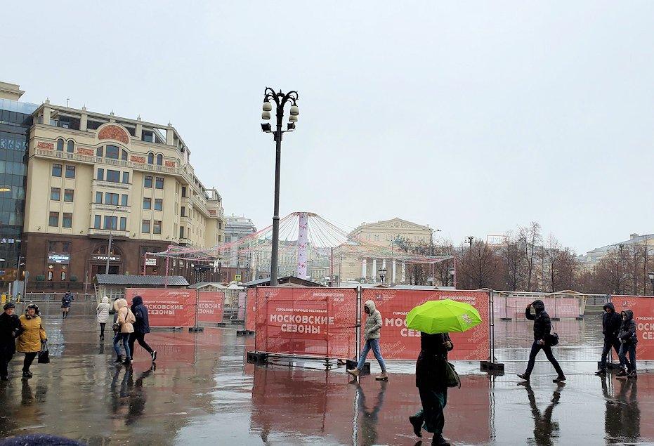 モスクワ市内中心部から赤の広場へ向かう-4