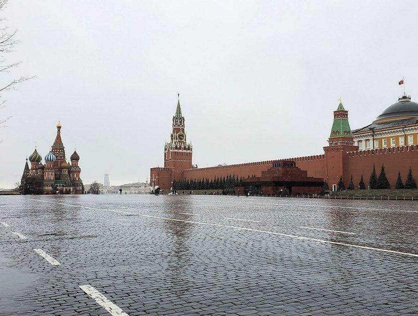 モスクワ市中心部である赤の広場
