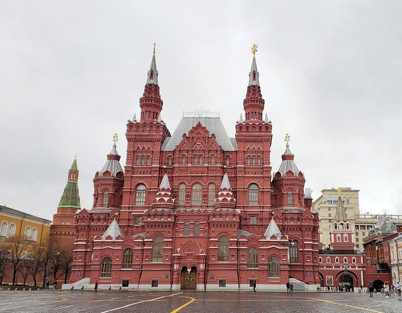 赤の広場中心部に立って見える「ロシア国立歴史博物館」