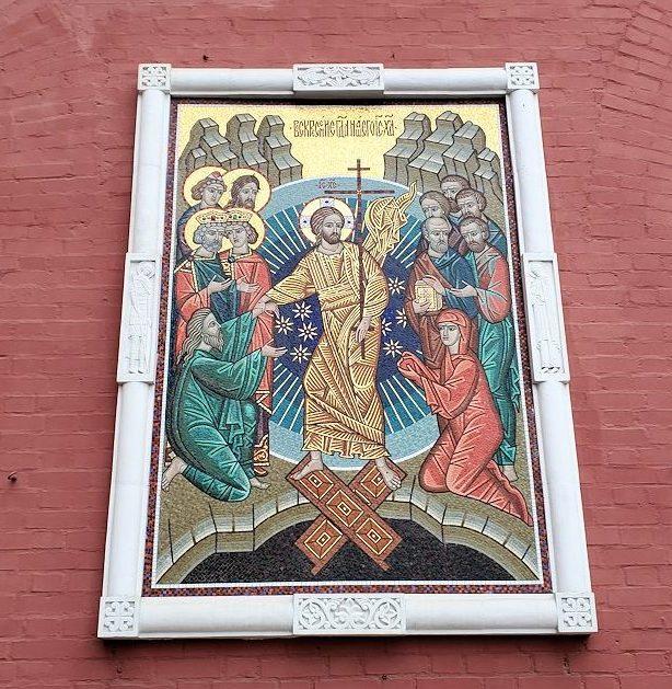 赤の広場周辺にある「ヴァスクレセンスキー門」に飾られていたイコン