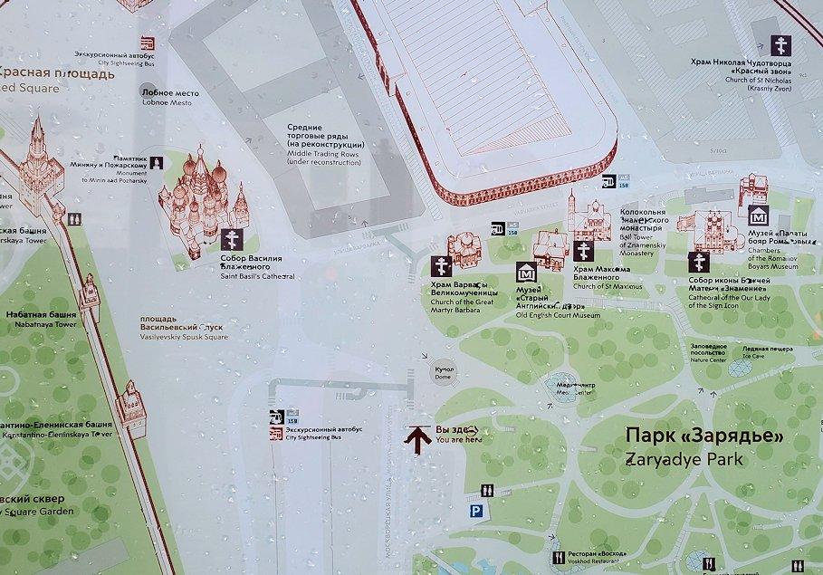 赤の広場周辺の地図