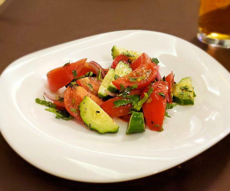 【レストラン】アルヒテクトルで出てきたサラダ