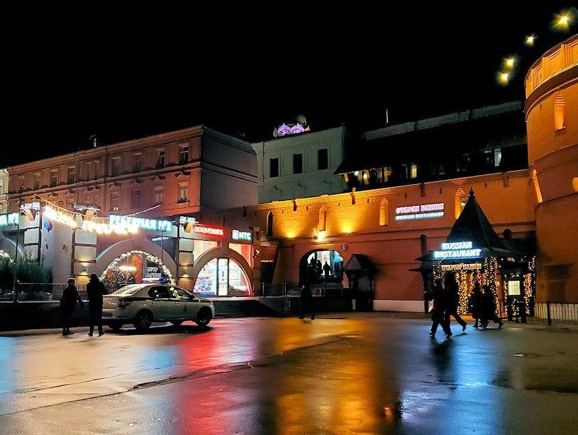 夜の赤の広場周辺の景色