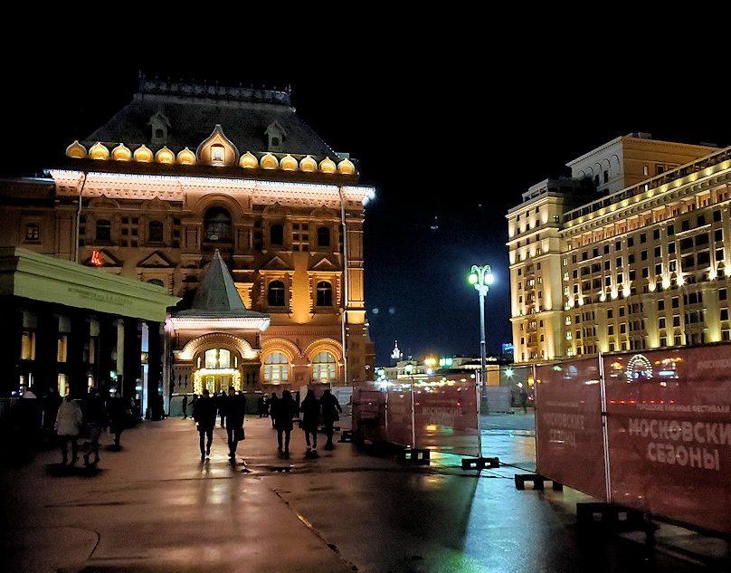 夜の赤の広場周辺の景色-3