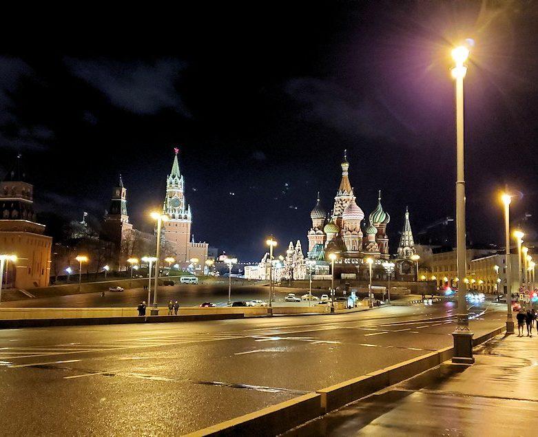 夜のライトアップされた、赤の広場周辺-5