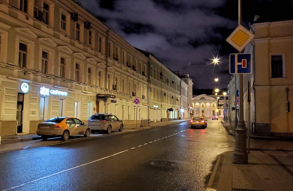 夜のモスクワ川沿いを歩きます-2