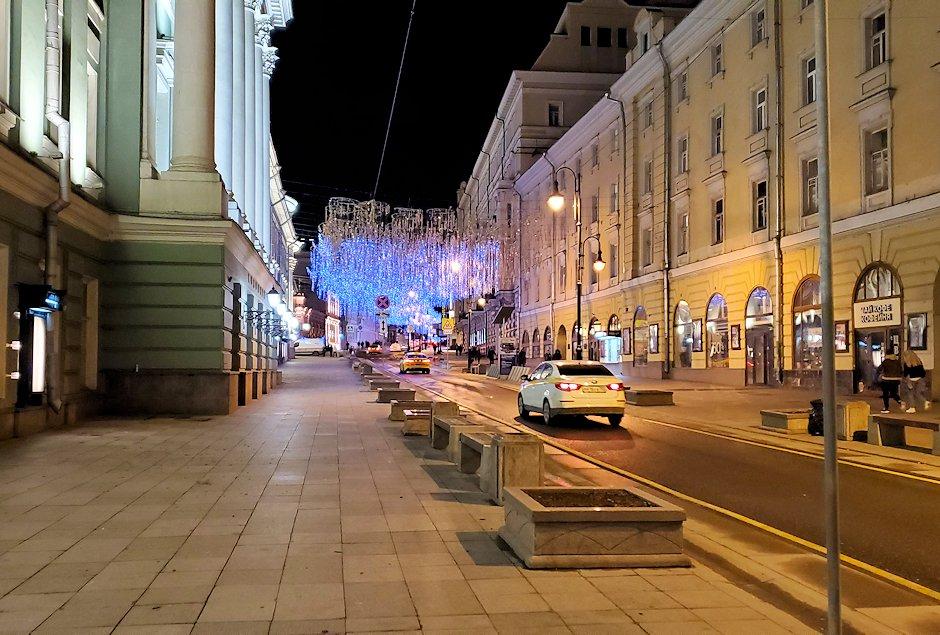 夜のモスクワ市内から見える、街の景色-4