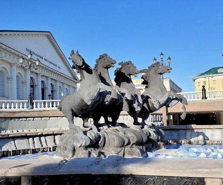 モスクワのクレムリン周辺にあるマネージュ広場にあった像