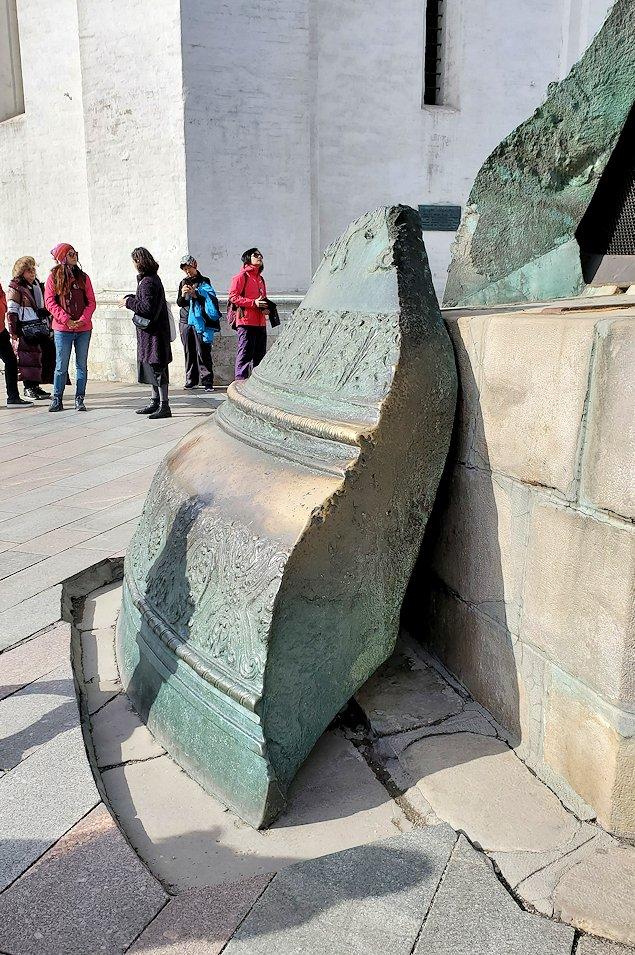 モスクワのクレムリン内にある、一部が欠けた「鐘の皇帝(ツァーリ・コロコル)」