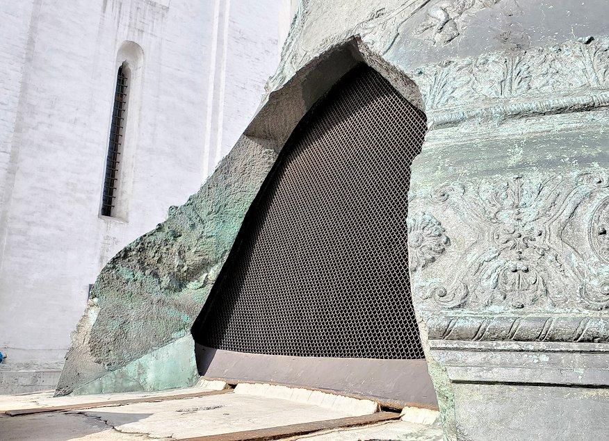 モスクワのクレムリン内にある、「鐘の皇帝(ツァーリ・コロコル)」内の網