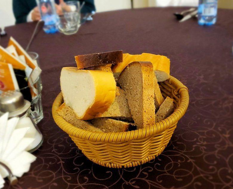 【レストラン】コレソ・ヴレメニで出てきたパン