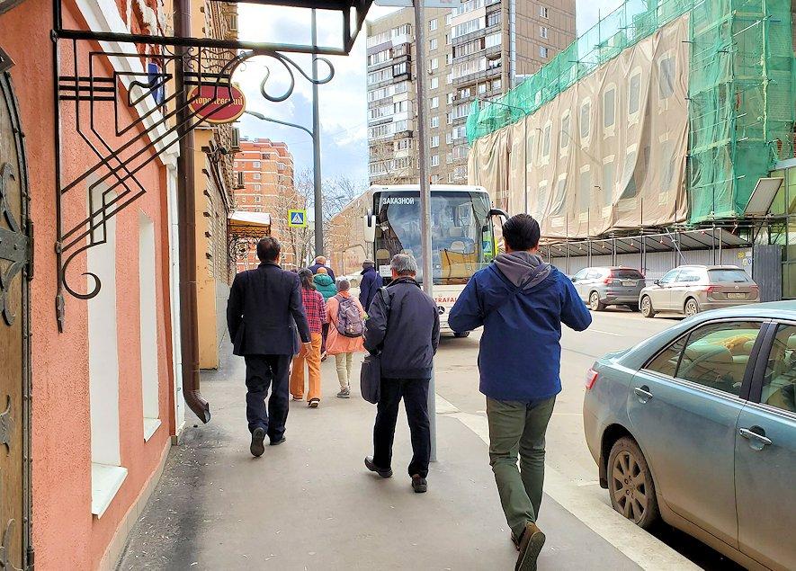 アリョンカ・チョコレートの店内からバスに戻る