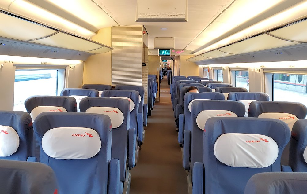 特急列車サプサン内の景色