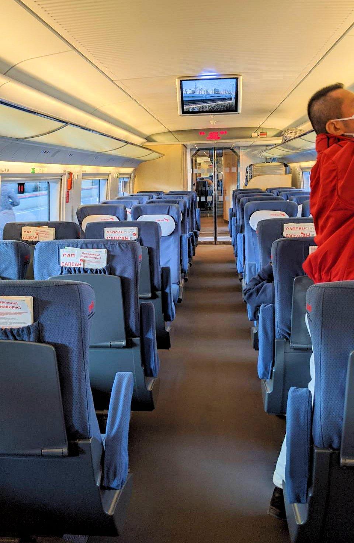特急列車サプサン内の景色-3