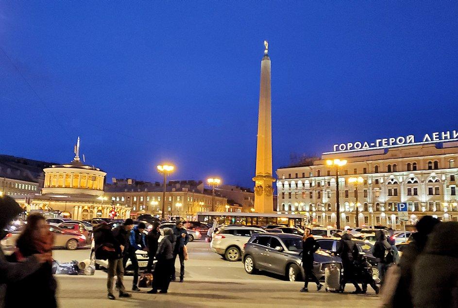 モスコーフスキー駅前の景色