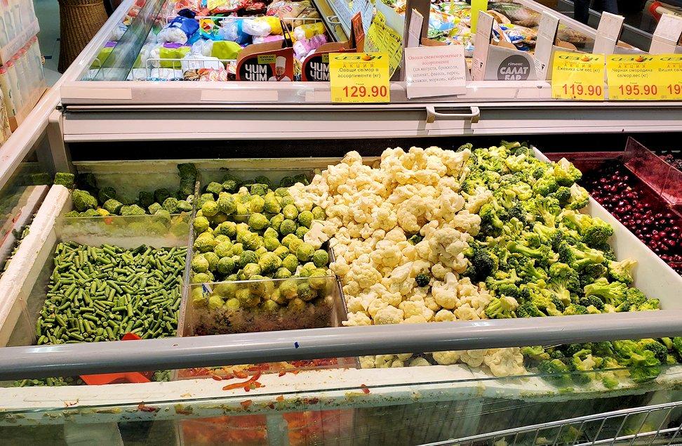 ホリデーイン横のスーパーマーケット店内で売っていた野菜