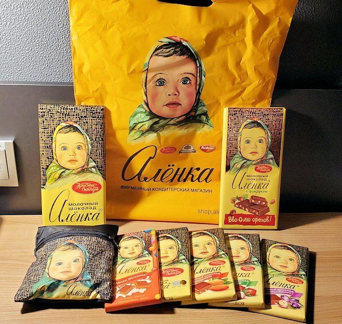 アリョンカで購入したチョコレート