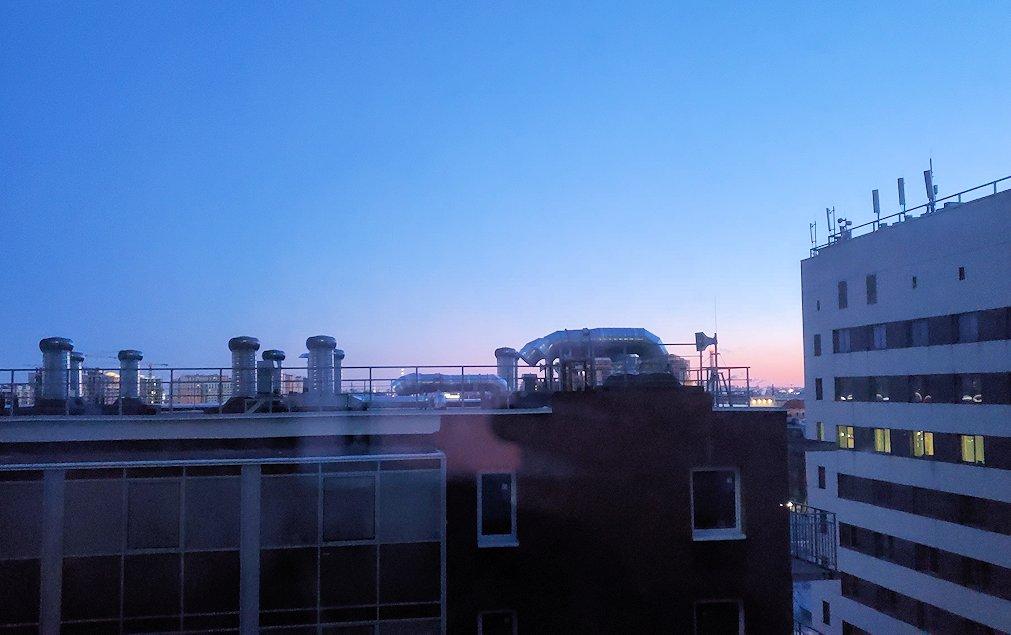 サンクトペテルブルクのホリデーインの部屋からの景色