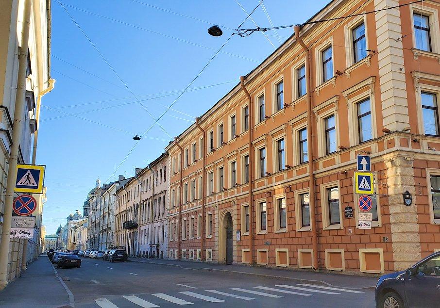 サンクトペテルブルク市内の街中