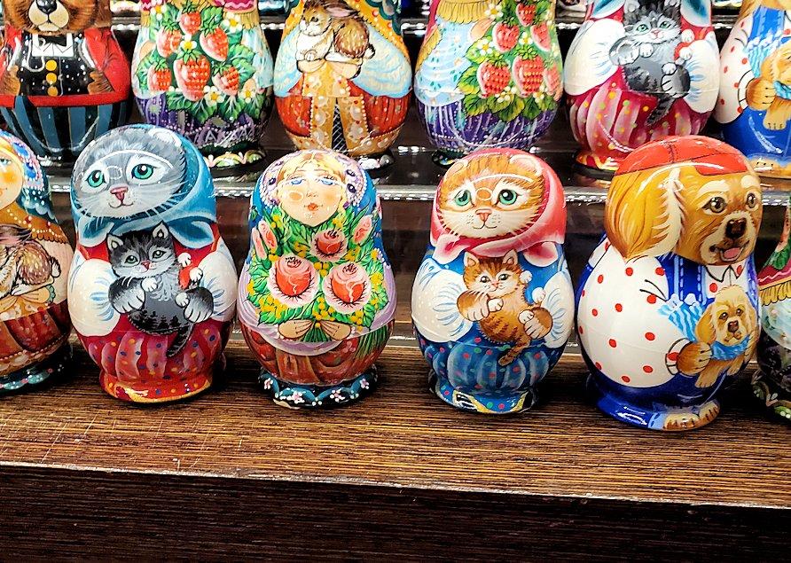 「Pushkin Art Gallery」に置かれていたマトリョーシカ