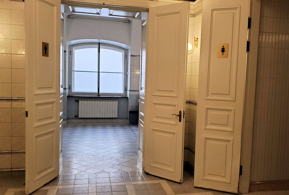 エルミタージュ美術館1階にあるトイレ
