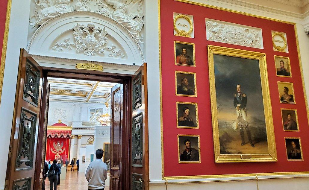 エルミタージュ美術館2階の「1812年祖国戦争ギャラリー」
