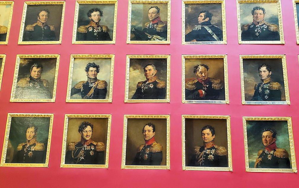 エルミタージュ美術館2階の「1812年祖国戦争ギャラリー」に飾られている、将軍の肖像画