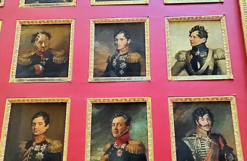 エルミタージュ美術館2階の「1812年祖国戦争ギャラリー」に飾られている、将軍の肖像画-1