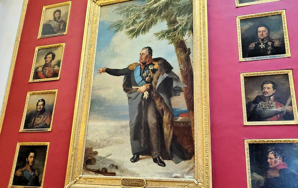 エルミタージュ美術館2階の「1812年祖国戦争ギャラリー」にあるミハイル・クトゥーゾフ侯爵の肖像画