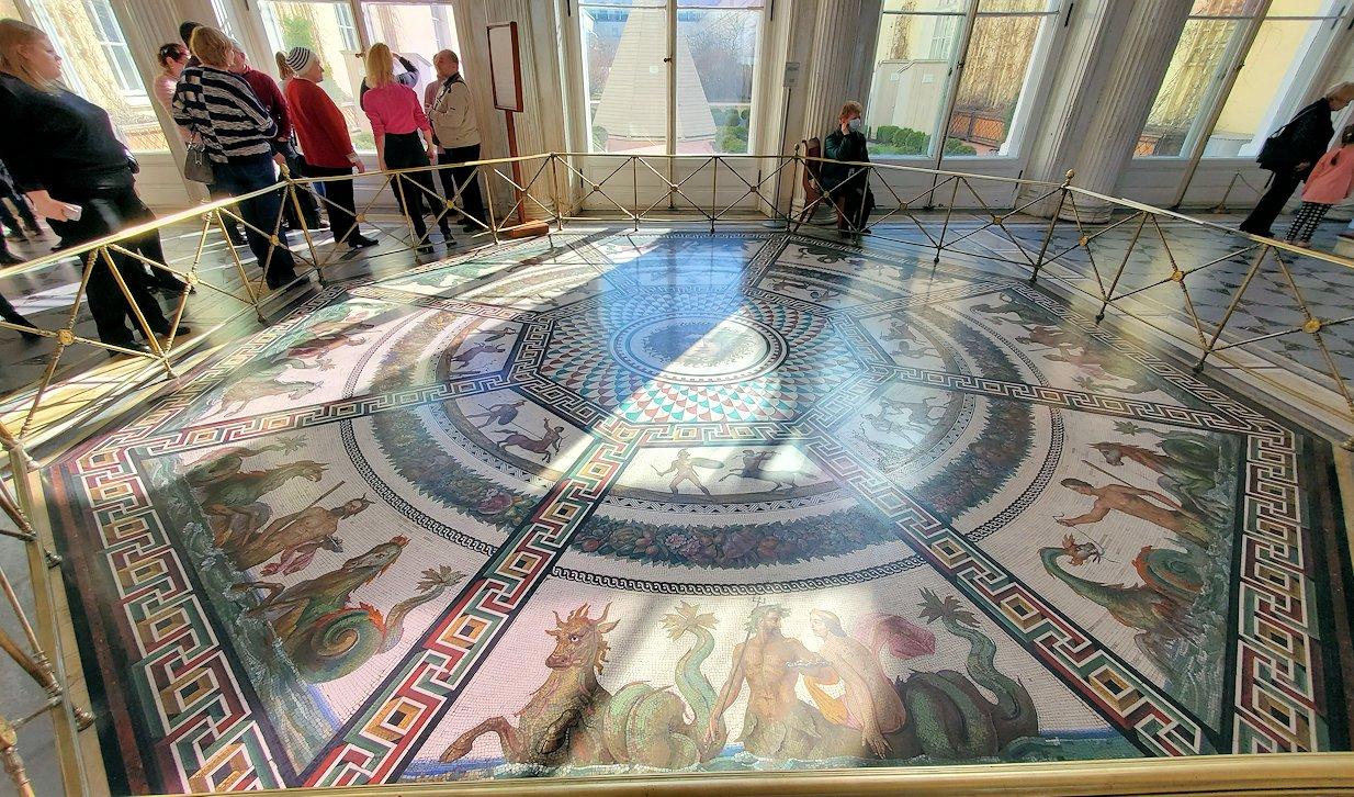 エルミタージュ美術館の「パヴィリオンの間」の床にあったモザイク画-2