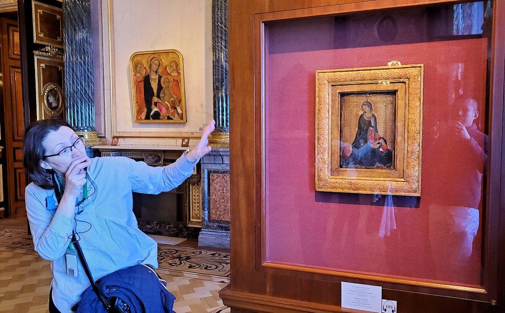 「初期イタリア・ホール」に飾られている『受胎告知の聖女』(Saint Luke Drawing the Virgin)-1