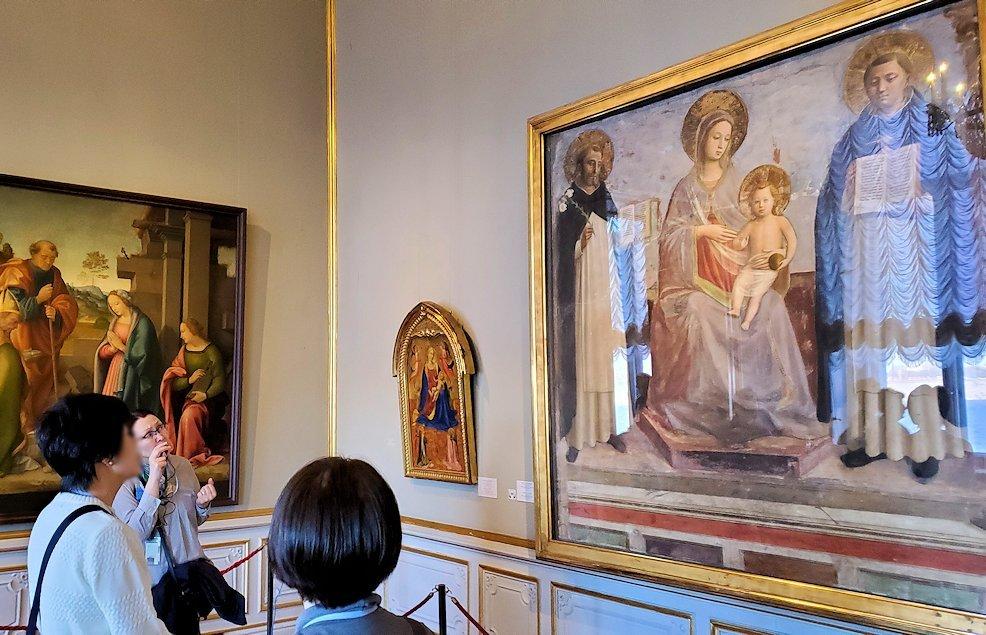 『聖母子と聖ドミニコと聖トマスとアクィナス』(The Virgin and Child with Sts Dominic and Thomas Aquinas) by フラ・アンジェリコ(Fra' Angelico)の作品
