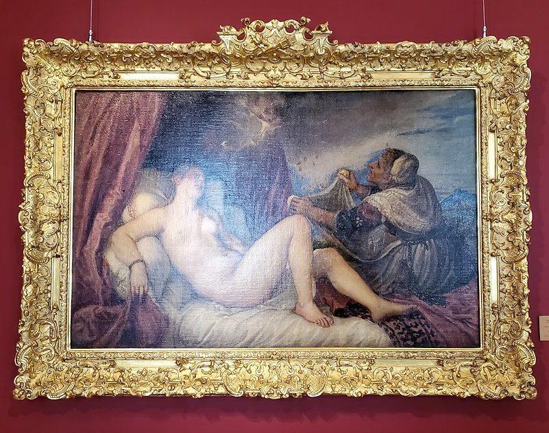 『ダナエ』(Danae) by ティツィアーノ・ヴェチェッリオの絵画