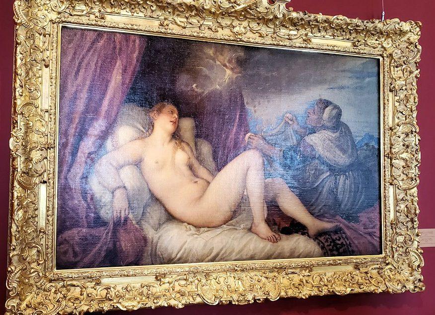 『ダナエ』(Danae) by ティツィアーノ・ヴェチェッリオの絵画-1