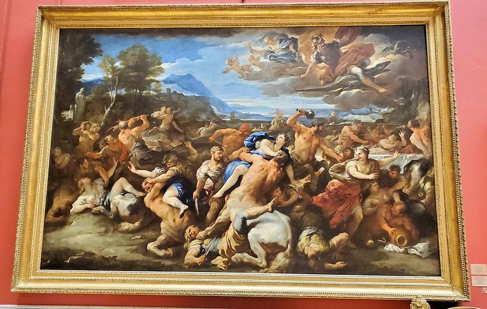『ケンタウロスの戦い』 (The Battle between Lapiths and Centaurs) by ルカ・ジョルダーノ(Luca Giordano)