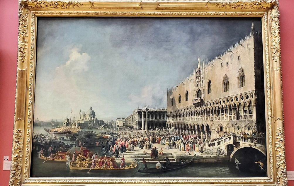 『フランス大使のヴェネツィア到着』 (The Reception of the French Ambassador in Venice) by ジョヴァンニ・アントーニオ・カナール(Giovanni Antonio Canal)