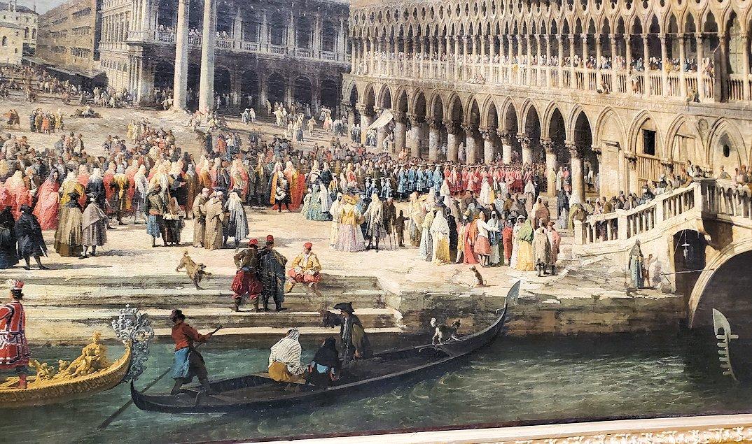 『フランス大使のヴェネツィア到着』by ジョヴァンニ・アントーニオ・カナールの絵画