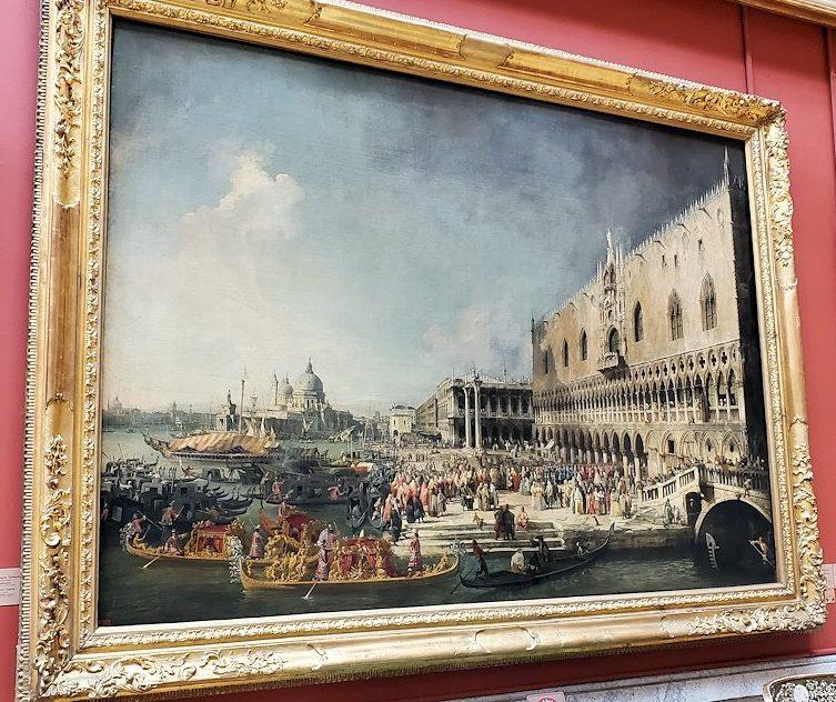 『フランス大使のヴェネツィア到着』by ジョヴァンニ・アントーニオ・カナールの絵画-2