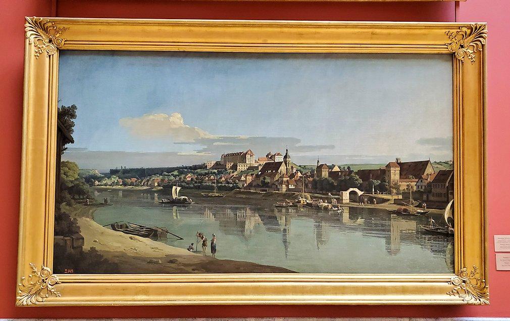 『エルバ川右岸からのピルナの眺め』 (View of pirna from the Right Bank of the Elba) by ベルナルド・ベッロット(Bellotto Bernardo)