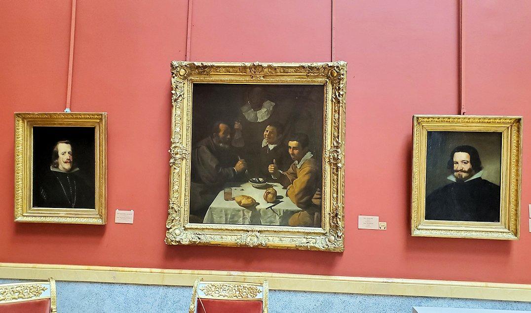 ディエゴ・ベラスケス(Diego Velázquez)の絵画が3枚が飾られている