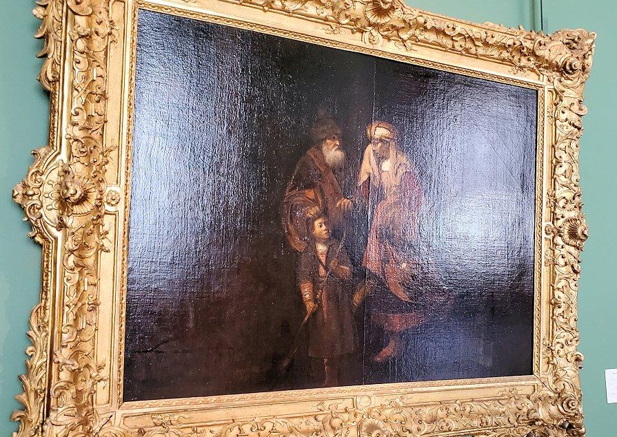 エルミタージュ美術館に展示されているレンブラントの絵