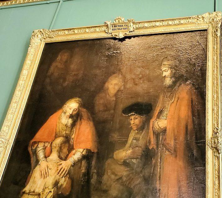 『放蕩息子の帰還』 (Return of the Prodigal Son) by レンブラント・ファン・レイン(Rembrandt van Rijn)で冷ややかな目線を投げかける者たち